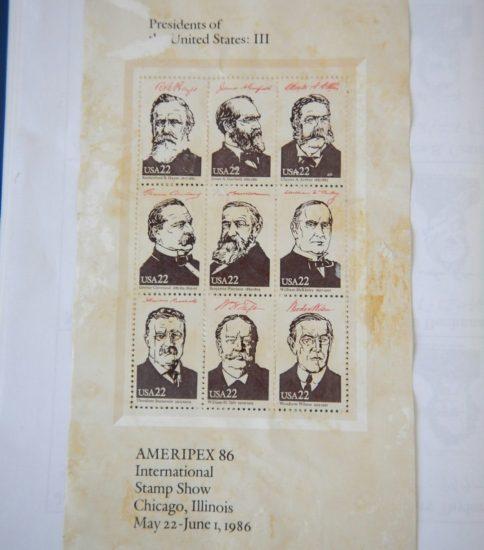 アメリカ大統領の切手シ-ト