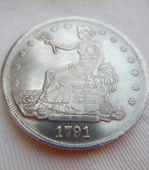 アメリカ貿易銀1ドル(1791)