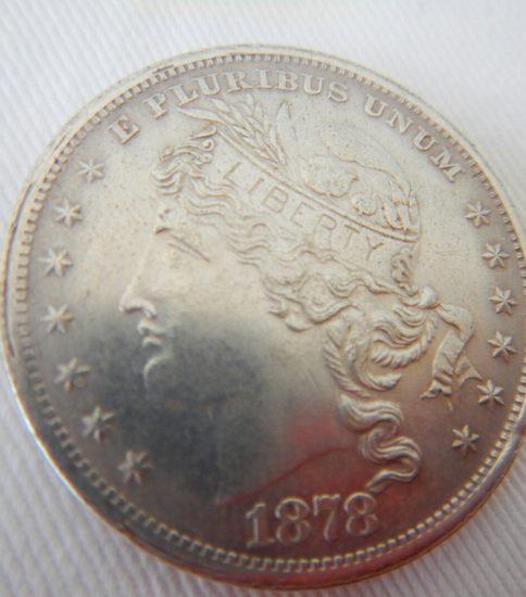 モルガンダラ一銀貨(100セント)1878年希少ミント