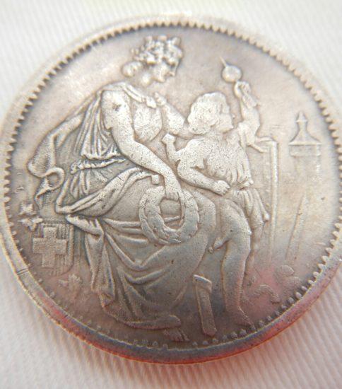 スイス シャフハウゼン 5フラン1865年