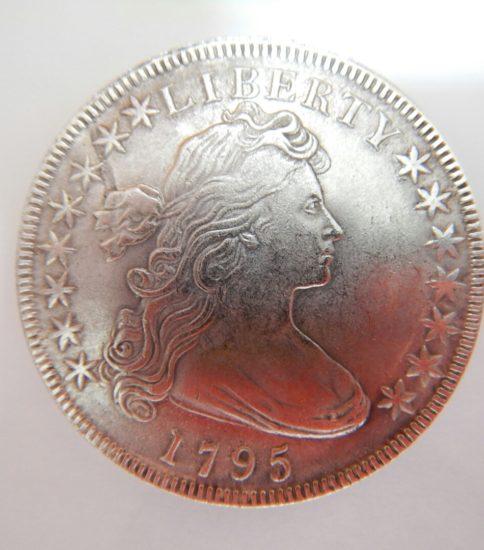 アメリカ1ドル銀貨(1795)ドレ一プド.バスト.スモールイ一
