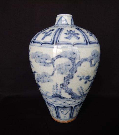 中国青花松竹梅紋梅瓶[元・14世紀]