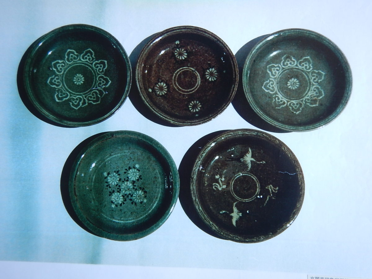 高麗青磁象嵌銘々皿 [12世紀]