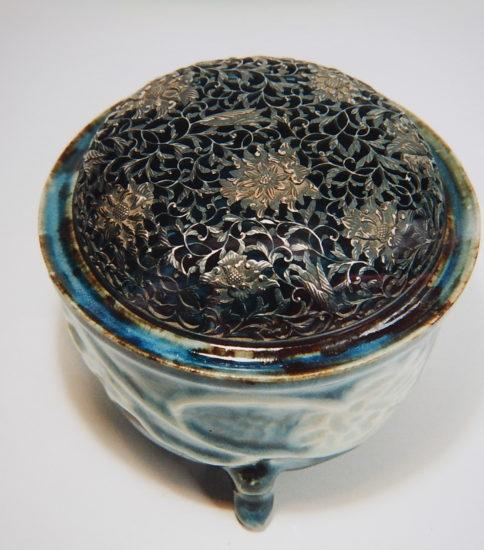 瑠璃葵香炉